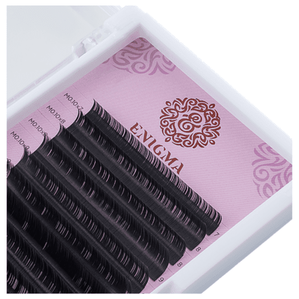Ресницы Enigma, черные, 16 линий, отдельные длины