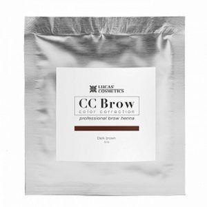 Хна для бровей CC Brow (dark brown) в саше (темно-коричневый), 5гр.