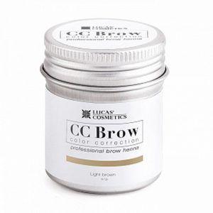 Хна для бровей CC Brow (light brown) в баночке (светло-коричневый), 5гр.