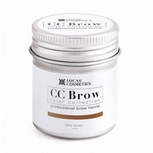 Хна для бровей CC Brow (grey brown) в баночке (серо-коричневый), 5гр.