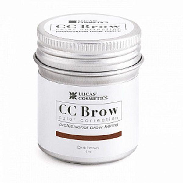 Хна для бровей CC Brow (dark brown) в баночке (темно-коричневый), 5гр.