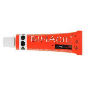 Краска для ресниц и бровей светло-черная (графит), 15мл. Binacil