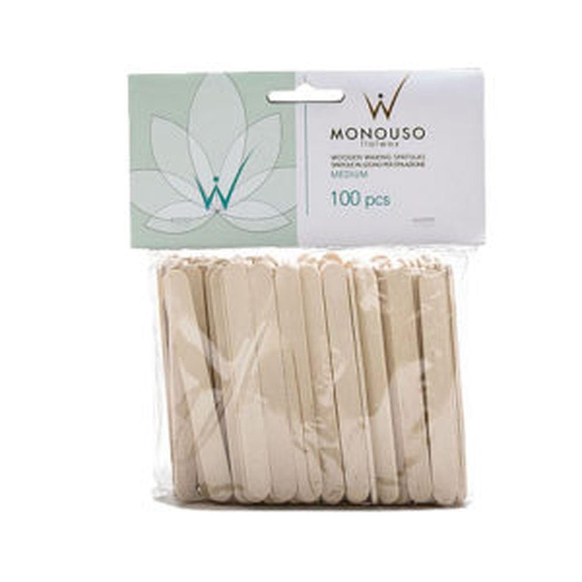 Шпатели деревянные средние, 100шт. WhiteLine