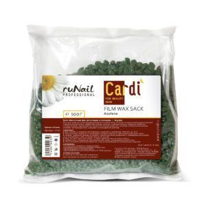 Воск пленочный для депиляции в гранулах Cardi (аромат: «Азулен»), 500гр. Runail