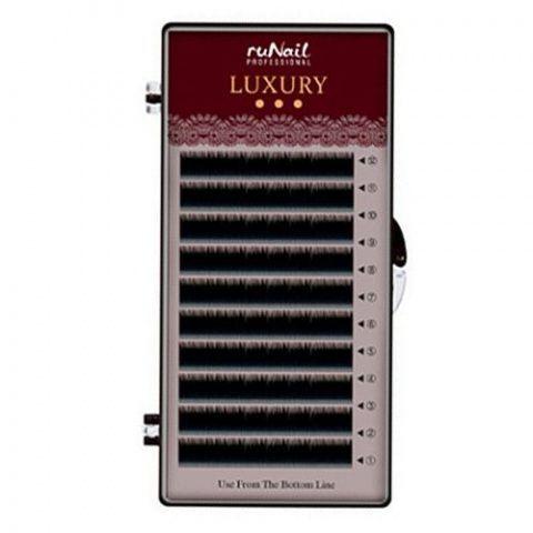 Ресницы RuNail Luxury черные 12 линий