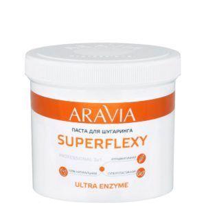 Сахарная паста для шугаринга Aravia SUPERFLEXY Ultra Enzyme 750 гр