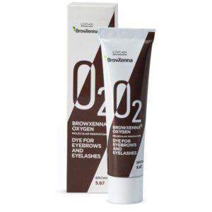 Краска для бровей и ресниц Oxygen O2 Brown BrowXenna 15мл