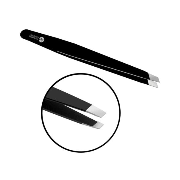 Пинцет для бровей прямой скошенный SexyBrow ручная заточка