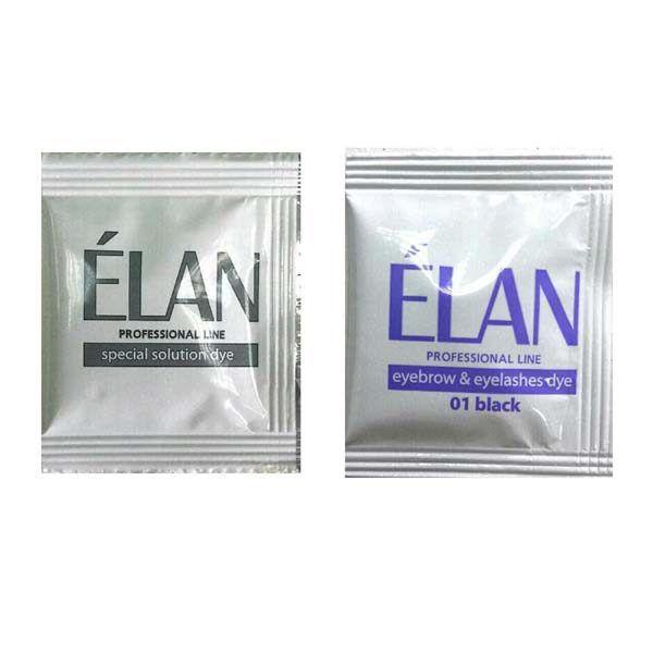 Гель-краска для бровей и ресниц Elan 01 Black саше+оксид 5мл