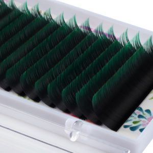 Ресницы Lash&Go Ombre Green MIX 16 линий